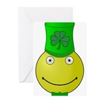 Smiley with Shamrock Greeting Cards