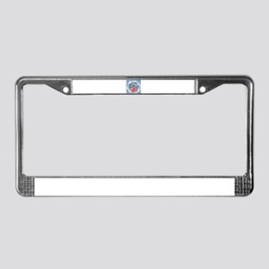 He Has Risen Rugged Cross With License Plate Frame