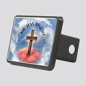 He Has Risen Rugged Cross Rectangular Hitch Cover
