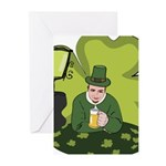 St Patricks Day Man with Beer Greeting Cards