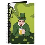 St Patricks Day Man with Beer Journal