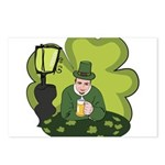 St Patricks Day Man with Beer Postcards (Package o
