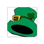 Leprechaun Hat with Shamrock Sticker
