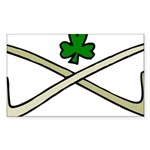 Shamrock and Pipes Sticker