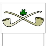 Shamrock and Pipes Yard Sign
