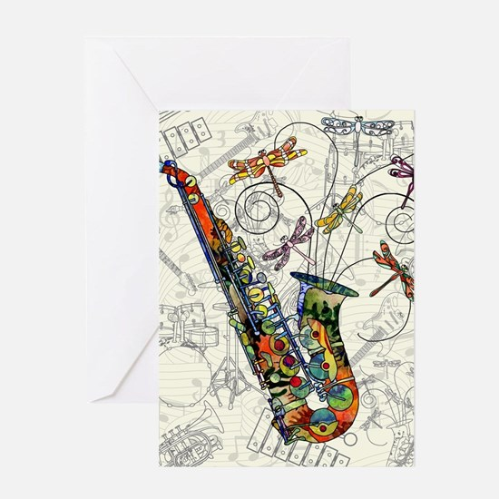 Sax Greeting Cards