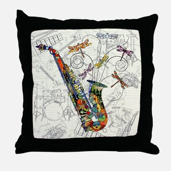 Sax Throw Pillow