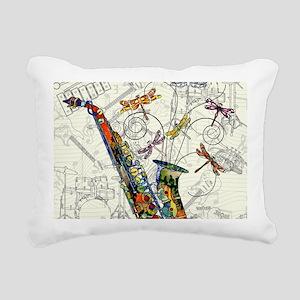 Sax Rectangular Canvas Pillow