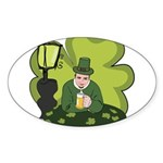 St Patricks Day Man with Beer Sticker