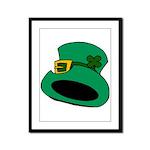 Leprechaun Hat with Shamrock Framed Panel Print