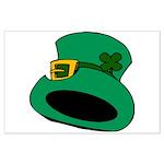 Leprechaun Hat with Shamrock Poster Art