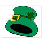 Leprechaun Hat with Shamrock Poster Design