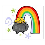 Rainbow with Crock of Gold Poster Design