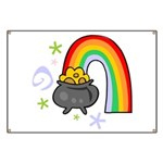 Rainbow with Crock of Gold Banner