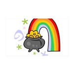 Rainbow with Crock of Gold Wall Sticker
