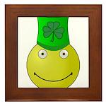 Smiley with Shamrock Framed Tile