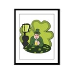 St Patricks Day Man with Beer Framed Panel Print