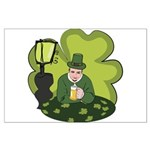 St Patricks Day Man with Beer Poster Art