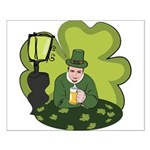 St Patricks Day Man with Beer Poster Design