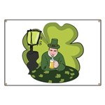 St Patricks Day Man with Beer Banner