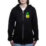 Smiley with Shamrock Women's Zip Hoodie