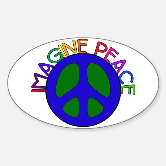 Imagine Peace Oval Decal