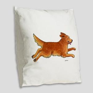 Leap Full Color Burlap Throw Pillow
