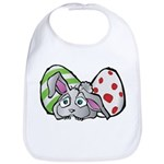 Spring Bunny with Easter Eggs Bib