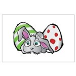 Spring Bunny with Easter Eggs Poster Art