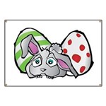 Spring Bunny with Easter Eggs Banner