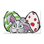 Spring Bunny with Easter Eggs Rectangle Car Magnet