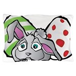 Spring Bunny with Easter Eggs Pillow Case