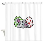 Spring Bunny with Easter Eggs Shower Curtain
