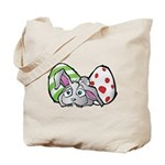 Spring Bunny with Easter Eggs Tote Bag