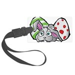 Spring Bunny with Easter Eggs Large Luggage Tag