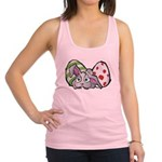 Spring Bunny with Easter Eggs Racerback Tank Top