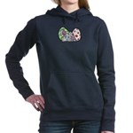 Spring Bunny with Easter Eggs Women's Hooded Sweat