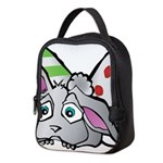 Spring Bunny with Easter Eggs Neoprene Lunch Bag