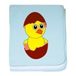 Newborn Chick with Chocolate Egg baby blanket