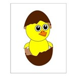 Newborn Chick with Chocolate Egg Poster Design