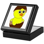 Newborn Chick with Chocolate Egg Keepsake Box