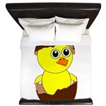 Newborn Chick with Chocolate Egg King Duvet