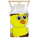 Newborn Chick with Chocolate Egg Twin Duvet