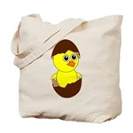 Newborn Chick with Chocolate Egg Tote Bag