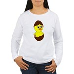 Newborn Chick with Chocolate Egg Long Sleeve T-Shi
