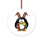 Easter Penguin Ornament (Round)