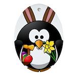 Easter Penguin Ornament (Oval)