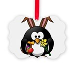 Easter Penguin Picture Ornament