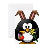 Easter Penguin Greeting Cards