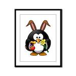 Easter Penguin Framed Panel Print